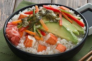 California Roll Salad Bowl