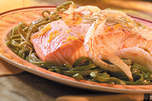 Orange-Glazed Roasted Salmon and Fennel