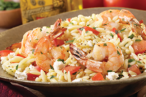 Orzo Pasta with Shrimp