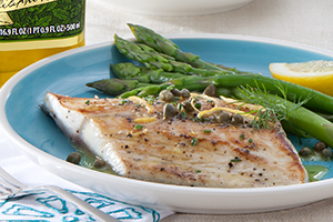 Pan-Seared Fish with Caper Lemon Dressing