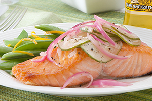 Salmon with Summer Relish
