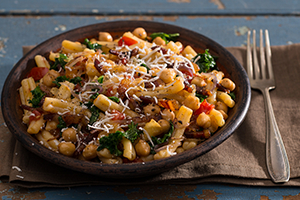 Casareccia Pasta with Chickpeas, Kale, and Herbs