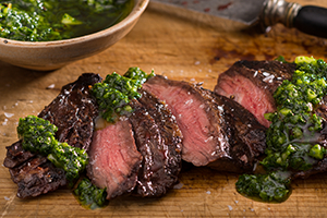 19_Skirt Steak with Chimichurri Sauce
