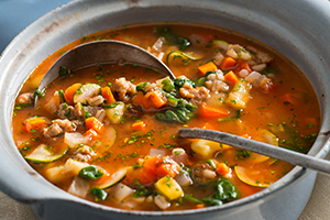 Turkey Sausage and Barley Soup