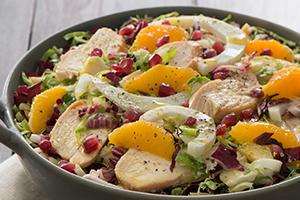 Brussels Sprouts, Fennel & Chicken Salad