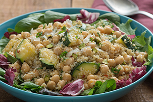 Quinoa Salad with Roasted Zucchini and Fresh Mint