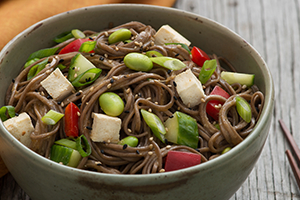 Soba Noodle Salad with Soy Dressing