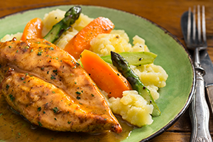 Chicken Breasts in White Wine