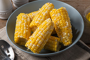 Corn on the Cob with Garlic Oil