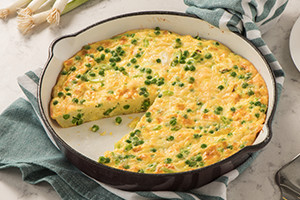 Frittata with Peas and Green Onions