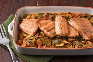 Greek Baked Fish with Vegetables