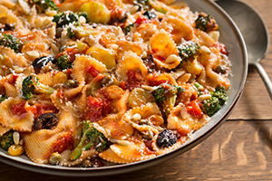 Farfalle with Broccoli, Raisins, and Pine Nuts