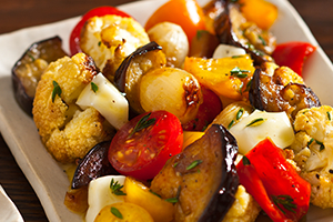 Mixed Roasted Vegetables Salad with Scamorza Cheese