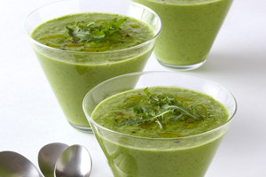 Basil, Cucumber, and Arugula Gazpacho