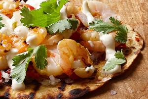 Grilled Shrimp Tostadas