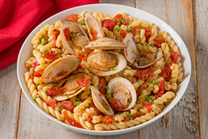 Fusilli with Spicy Clams