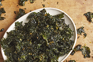 Kale Chips with Toasted Lemon Zest