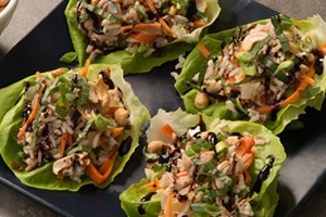 Chicken and Wild Rice Lettuce Wraps