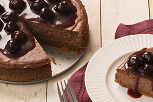 Dark Chocolate and Cherry Cheesecake