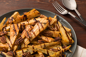 Roasted Parsnips with Pecans