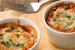 Tomato & Ricotta Pesto Lasagna Cups
