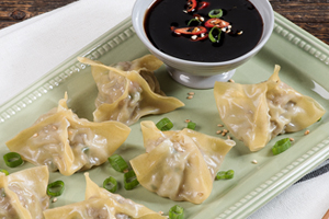 Asian Pork and Truffle Balsamic Dumplings