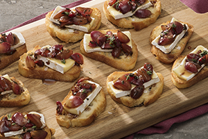 Blistered Balsamic Grape Crostini