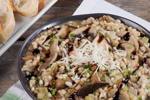 Creamy Mushroom and Barley Risotto