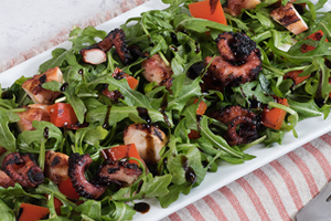 Grilled Octopus and Arugula Salad