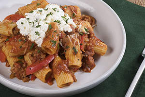 Sausage and Red Pepper Rigatoni