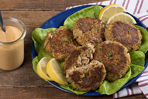 Sun-Dried Tomato Pesto Crab Cakes