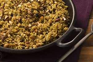 Spiced Almond and Olive Pesto Rice