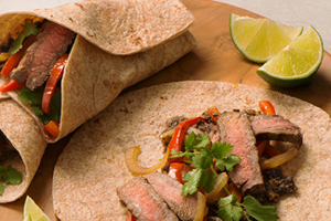 Steak and Black Bean Fajitas
