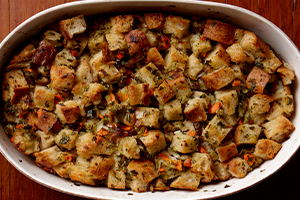 Leek and Chestnut Bread Stuffing