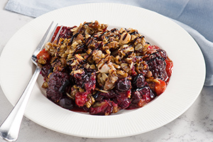 Balsamic Berry Crumble
