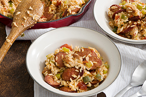 Chicken and Sausage Cajun Jambalaya