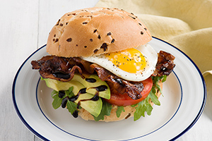 Chili Balsamic Bacon Breakfast Sandwich