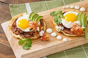 Chorizo Huevos Rancheros Breakfast Tostadas