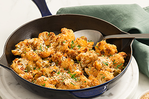 Roasted Cauliflower with Green Olives and Garlic Breadcrumbs