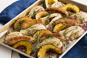 Sausage, Fennel and Squash Sheet Pan Supper