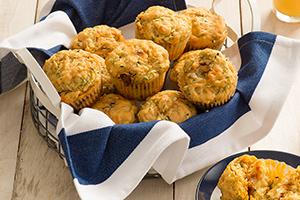Savory Zucchini and Fontina Muffins