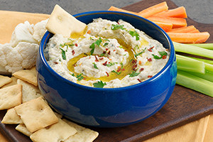 Charred Eggplant Yogurt Dip with Fresh Mint