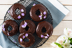 Baked Olive Oil Chocolate Donuts with Hidden Veggies